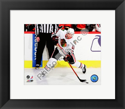 Framed Brian Campbell 2010-011 Action Print