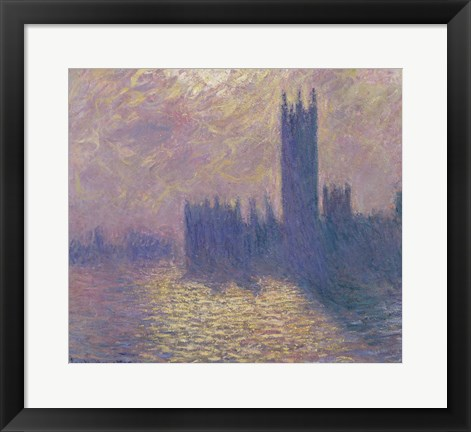 Framed Houses of Parliament, Stormy Sky, 1904 Print