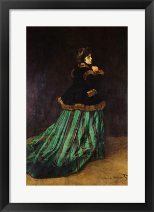Framed Camille, or The Woman in the Green Dress, 1866 Print