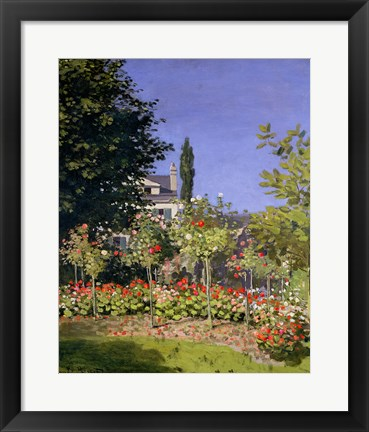 Framed Flowering Garden at Sainte-Adresse, c.1866 Print