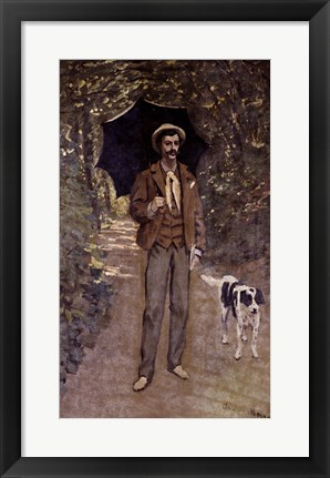 Framed Man with an Umbrella, c.1868-69 Print