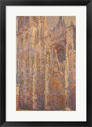 Framed Rouen Cathedral, Midday, 1894 Print