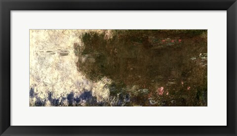Framed Waterlilies - The Clouds (right side), 1914-18 Print