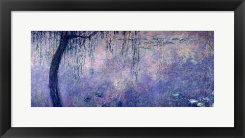 Framed Waterlilies: Two Weeping Willows, left section, 1914-18 Print