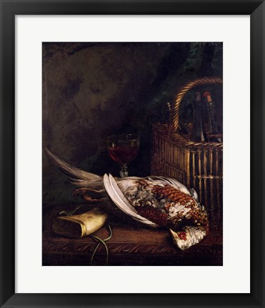 Framed Still Life with a Pheasant, c.1861 Print