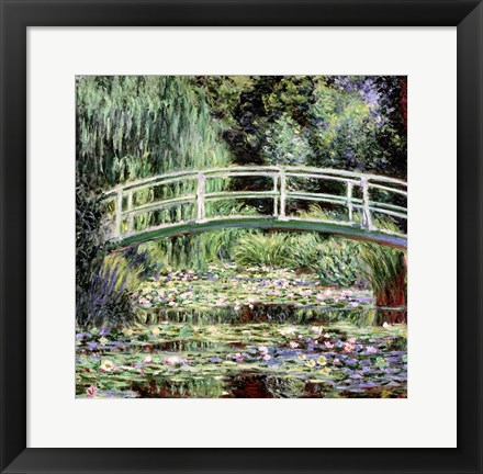 Framed White Waterlilies, 1899 Print