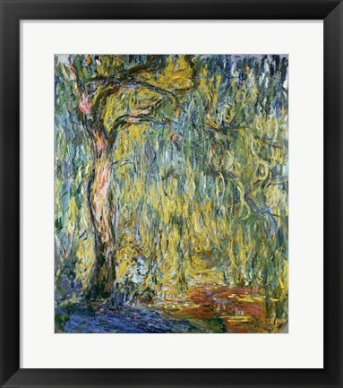 Framed Large Willow at Giverny, 1918 Print