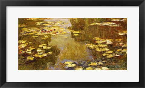 Framed Lily Pond - yellow Print