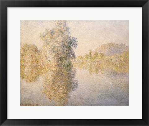 Framed Early Morning on the Seine at Giverny, 1893 Print
