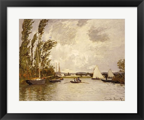 Framed Little Branch of the Seine at Argenteuil Print