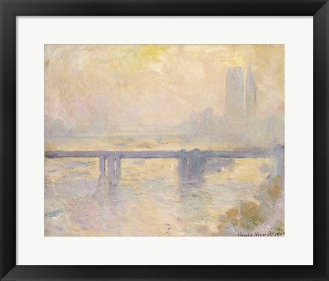 Framed Charing Cross Bridge, 1903 Print