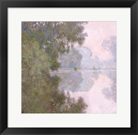 Framed Morning on the Seine, near Giverny, 1896 Print
