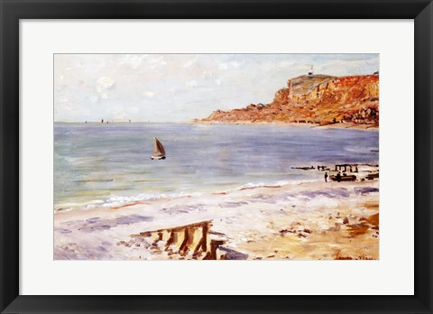 Framed Seascape at Sainte-Adresse Print