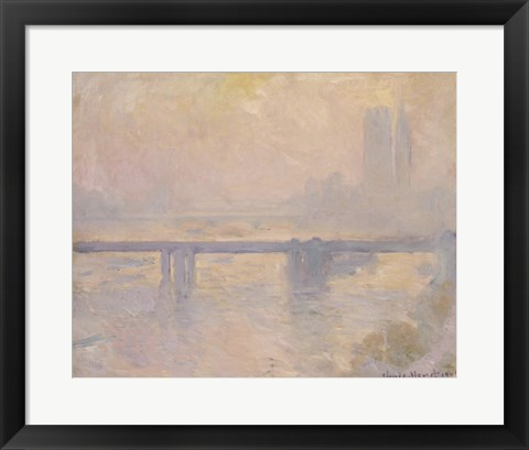 Framed Charing Cross Bridge, 1899 Print