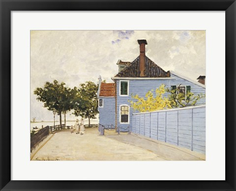 Framed Blue House, Zaandam Print