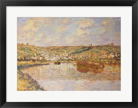 Framed End of the Afternoon, Vetheuil Print