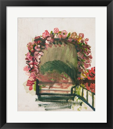 Framed Roses arches, Giverny, 1912-13 Print
