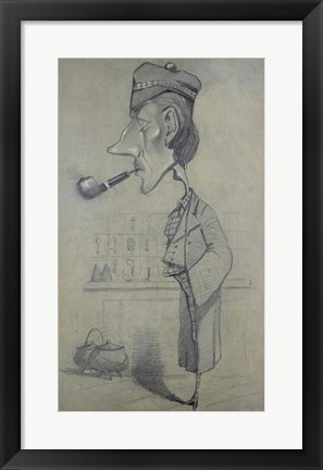 Framed Scotsman with a Pipe, 1857 Print