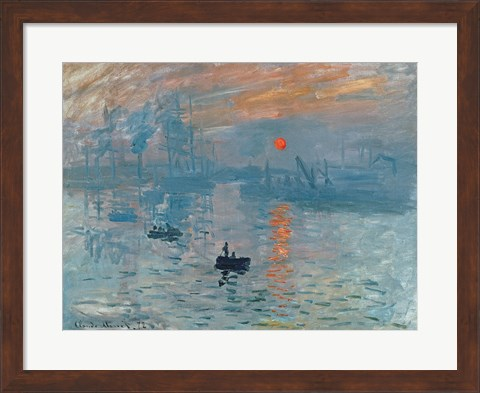 Framed Impression: Sunrise, 1872 Print