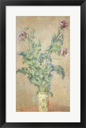 Framed Purple Poppies Print