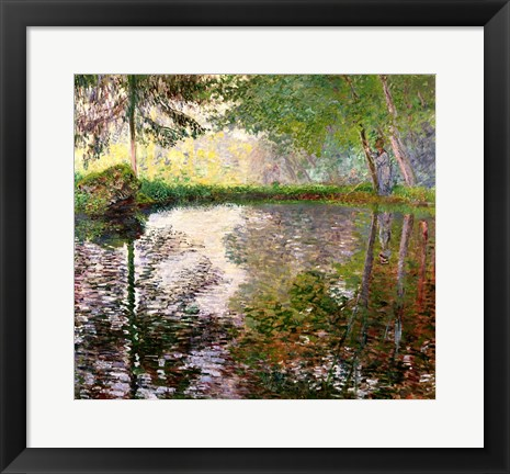 Framed Lake at Montgeron Print