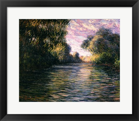 Framed Morning on the Seine, 1897 Print