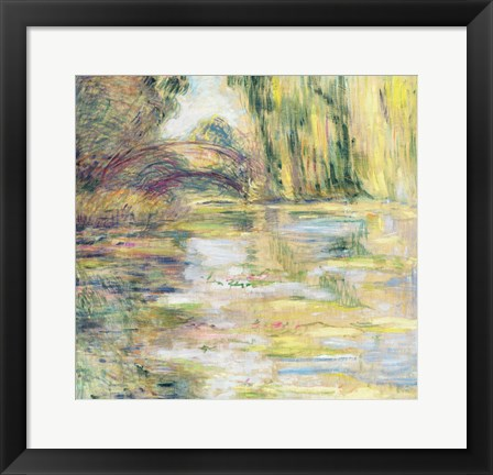 Framed Waterlily Pond: The Bridge Print