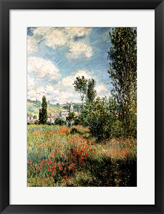 Framed Path through the Poppies, Ile Saint-Martin, Vetheuil, 1880 Print