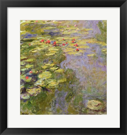 Framed Waterlily Pond, 1917-19 Print