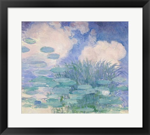 Framed Waterlilies, 1914-17 reflection Print