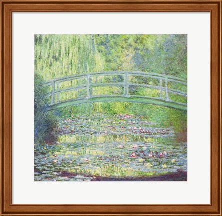 Framed Waterlily Pond with the Japanese Bridge, 1899 Print
