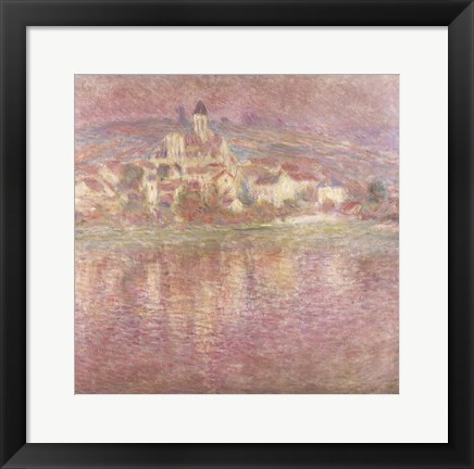 Framed Vetheuil, sunset, 1901 Print