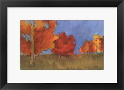 Framed Summer's Fall I Print