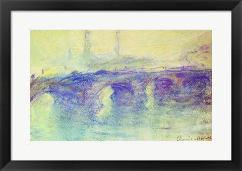 Framed Waterloo Bridge, c.1899 Print