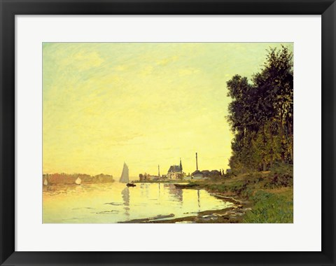 Framed Argenteuil, at the End of the Afternoon, 1872 Print