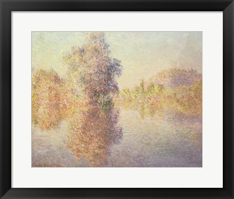 Framed Morning on the Seine at Giverny, 1893 Print