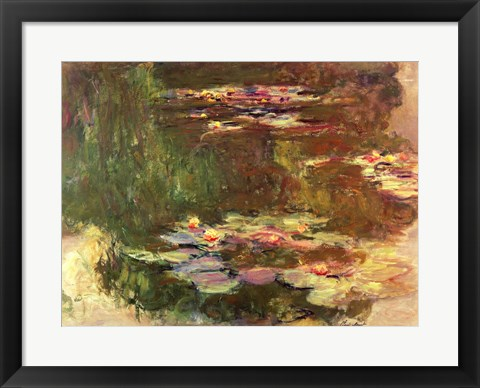 Framed Lily Pond, c.1917 Print