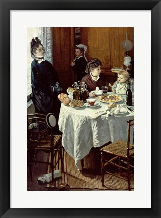 Framed Breakfast, 1868 Print