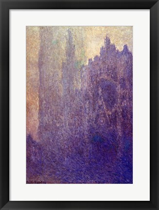 Framed Rouen Cathedral, Foggy Weather, 1894 Print