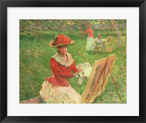 Framed Blanche Hoschede (1864-1947) Painting, 1892 Print
