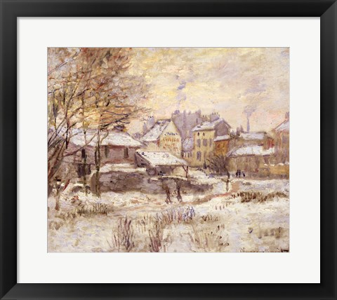 Framed Snow Effect with Setting Sun, 1875 Print