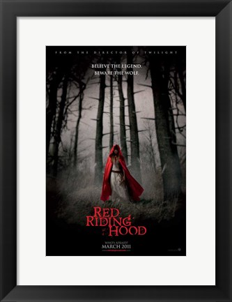 Framed Red Riding Hood Print