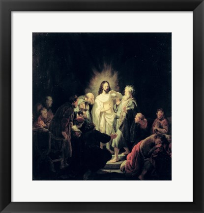 Framed Incredulity of St. Thomas Print