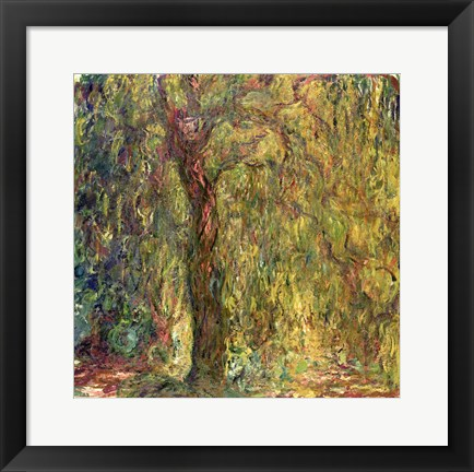 Framed Weeping Willow green Print
