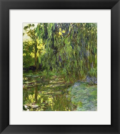 Framed Weeping Willows, The Waterlily Pond at Giverny, c.1918 Print