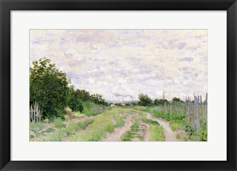 Framed Path through the Vines, Argenteuil, 1872 Print