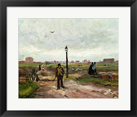 Framed Outskirts of Paris, 1886 Print