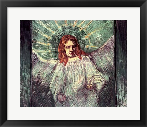 Framed Head of an Angel, after Rembrandt, 1889 Print