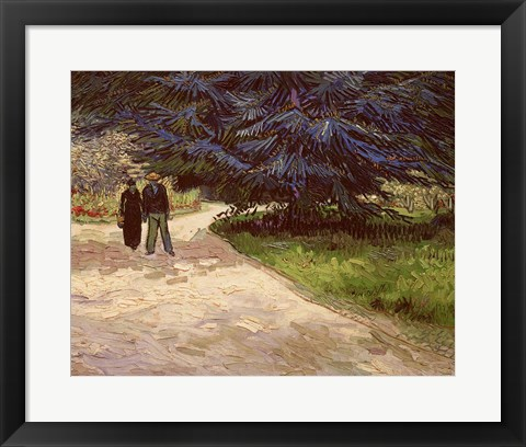 Framed Couple in the Park, Arles, 1888 Print