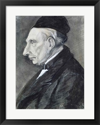 Framed Portrait of the Artist's Grandfather, 1881 Print